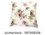pillows on white background | Shutterstock . vector #587008208