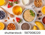 ingredients for a healthy... | Shutterstock . vector #587008220