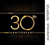 thirty years anniversary... | Shutterstock .eps vector #587009723