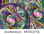 Abstract Colorful Spirals....