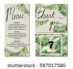 wedding invitation. cards for... | Shutterstock .eps vector #587017580