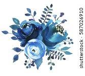 Indigo Blue Turquoise...