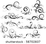 Stock vector collection of design elements 58702837