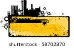 industrial banner | Shutterstock .eps vector #58702870