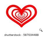 heart  icon  vector... | Shutterstock .eps vector #587034488