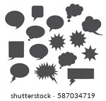 vector black speech bubbles... | Shutterstock .eps vector #587034719