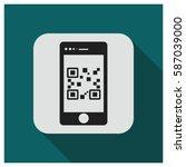smartphone qr code vector icon | Shutterstock .eps vector #587039000