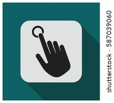 hand point click vector icon | Shutterstock .eps vector #587039060