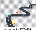 winding road isolated... | Shutterstock .eps vector #587044046