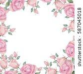 watercolor template. greeting... | Shutterstock . vector #587045018