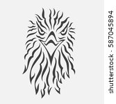 stylized vector bird | Shutterstock .eps vector #587045894