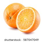 Oranges Isolated On A White...