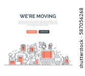 moving and delivery template... | Shutterstock .eps vector #587056268