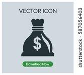 dollar bag vector icon