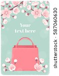 vertical template with pink...   Shutterstock .eps vector #587060630