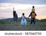 happy family and happy time... | Shutterstock . vector #587060750