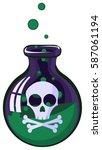 cartoon poison jar  vector... | Shutterstock .eps vector #587061194