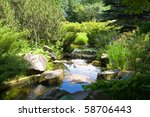 Japanese Garden With Stones ...
