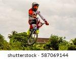 selayang  malaysia   12 feb... | Shutterstock . vector #587069144