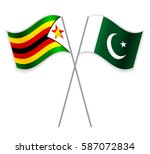 zimbabwean and pakistani... | Shutterstock .eps vector #587072834