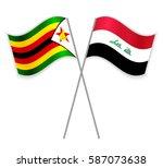 zimbabwean and iraqi crossed...   Shutterstock .eps vector #587073638