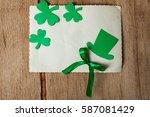 happy st. patrick's day... | Shutterstock . vector #587081429