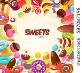 abstract background with sweets ... | Shutterstock .eps vector #587087198