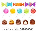 candies  sweetmeats and... | Shutterstock .eps vector #587090846