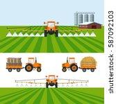 set of vector illustrations for ... | Shutterstock .eps vector #587092103