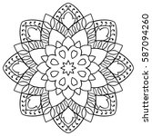 vector simple mandala with... | Shutterstock .eps vector #587094260