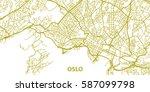 detailed vector map of oslo in... | Shutterstock .eps vector #587099798