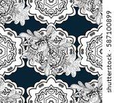 white pattern. seamless white... | Shutterstock . vector #587100899