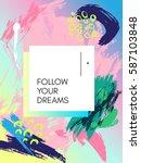 design poster in style 80s  90s.... | Shutterstock .eps vector #587103848