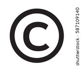 copyright symbol icon | Shutterstock .eps vector #587109140