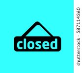 closed icon | Shutterstock .eps vector #587114360