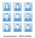 avatar profile picture icon set ... | Shutterstock .eps vector #587115464