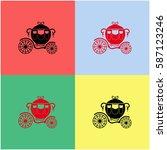 carriage vector  icon.   Shutterstock .eps vector #587123246