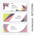 horizontal business banner | Shutterstock .eps vector #587123984