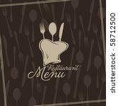 vector. restaurant menu design | Shutterstock .eps vector #58712500