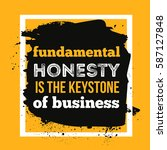 honesty is the keystone of... | Shutterstock .eps vector #587127848