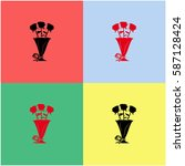 rose vector  icon.   Shutterstock .eps vector #587128424