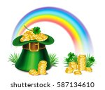 st. patrick's day green... | Shutterstock .eps vector #587134610
