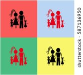 family vector  icon. | Shutterstock .eps vector #587136950