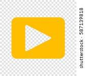 play sign illustration. vector. ... | Shutterstock .eps vector #587139818