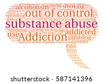 substance abuse word cloud on a ... | Shutterstock .eps vector #587141396