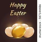 decorative easter background... | Shutterstock . vector #587144486