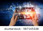 online banking application ....   Shutterstock . vector #587145338