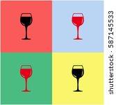 wineglass  vector  icon.