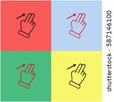touch vector  icon.   Shutterstock .eps vector #587146100