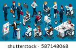 isolated group isometric... | Shutterstock .eps vector #587148068